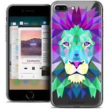 """Funda Carcasa para iPhone 8 Plus (5.5"""") Polígono Animal Flexible Fino León"""