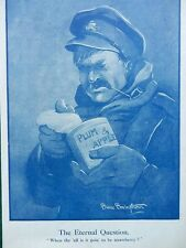 1917 BRUCE BAIRNSFATHER CARTOON WHEN THE ELL IS IT GOING TO BE STRAWBERR WWI WW1