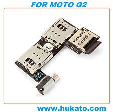 Sim Card Memory Slot Jack Flex Cable Reader For Motorola Moto G2 2nd Gen XT1068