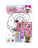 L.O.L Surprise Dolls - Colouring Set - Girls Gift Craft Set Paint Colour In LOL