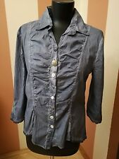 women blouse Elisa Cavaletti club size L 100 % cotton made in Italy