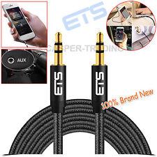 ® ETS 3m 3.5mm JACK SPINA MASCHIO A MASCHIO AUTO MUSICA MP3 Cavo Audio Stereo lead Nero