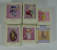 Lot of 6 Hallmark Easter Keepsake Ornaments (1993-1995) New in box