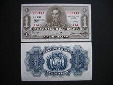 BOLIVIA  1 Boliviano 1928  Emision 1952  (P128c)  UNC