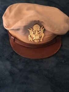 Casquette CRUSHER troupe pilote USAAF US AIR FORCE ORIGNAL US ARMY WWII 39 45