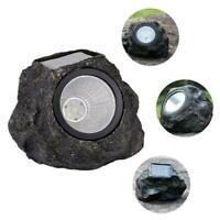 LED Solar Simulation Stone Lamp Outdoor Waterproof Landscape Light Garden K1C1