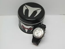 TechnoMarine Raft RSX Sport S.Steel Chronograph Watch Black & Cream Plastic Band