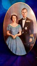 1953 Large Oval  Queen Elizabeth II & The Duke of Edinburgh Coronation Carr tin