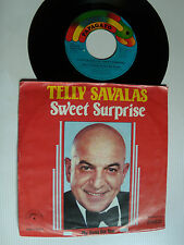 """TELLY SAVALAS: Sweet surprise / My song for you 7"""" 45T PAPS 9570 STEMRA (KOJAK)"""
