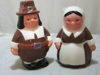 Vintage Pilgrim Pair Salt $ Pepper Shakers Publix 2006 Pre-Owned Thanksgiving