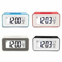 Digital Backlight LED Display Table Alarm Clock With Calendar+Thermometer