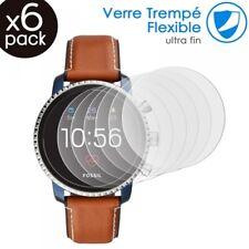 [Pack x6] Verre Fléxible Dureté 9H pour Fossil The Carlyle HR (5ème.Gén) Montre