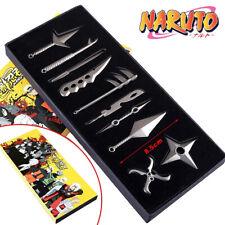 Anime Naruto: Set of 10 pcs Uzumaki+Naruto+Hatake+Kakashi Weapons Blade Cosplay