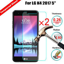 2Pcs New Tempered Glass HD Hardness Screen Protector Protective For LG K4 2017 5