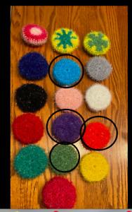 Crochet   Scrubbies Kitchen Dish Pot Scrubbers Scrubby Round ,set of 4
