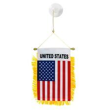 USA flag automobile rearview mirror or window flag car Home AMERICAN pride
