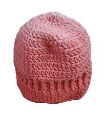 Winter Knitted Hat Girls Handmade Peach Orange