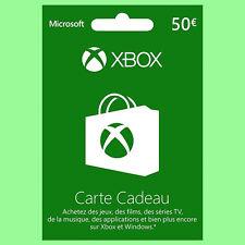 Carte Xbox Live de 50 euro Xbox One / Xbox 360 Microsoft Prepaid 50€ Cadeau FR