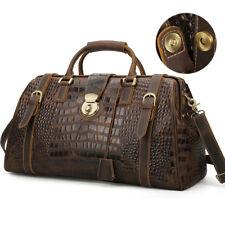 Large Men's Leather Travel Luggage Duffle Gym Bag Shoulder Bag Overnight Handbag