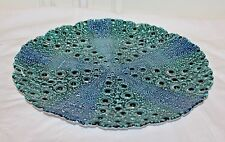 "BEAUTIFUL PLATE/PLATTER  Art Glass 13 ""  Made In Turkey"
