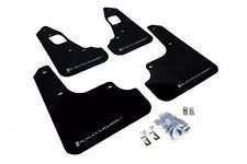 RALLY ARMOR UR Mud Flaps Lancer Evolution Evo X Black w/ Silver MF10-UR-BLK/SIL