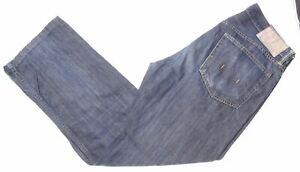 POLO RALPH LAUREN Mens Jeans W33 L34 Blue Cotton Straight GN03