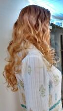 NWOT BLONDE BLOND Curly wavy Tousled Long WIG FREE SHIPPING
