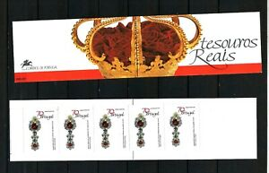 PORTUGAL-Booklet of 5x70$ stamps NR.80  -1991 -ROYAL TREASURES