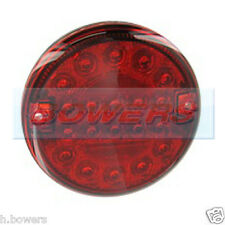 12V/24V LED SLIM SLIMLINE FLUSH FIT REAR ROUND RED HAMBURGER FOG LAMP LIGHT