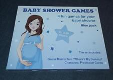 4 GAMES PACK BABY SHOWER 20 Player Blue Predictions Charades Guess Mums Tum New