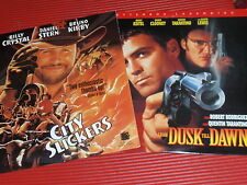 TWO SOUNDTRACK LASER DISCS CITY SLICKERS/FROM DUSK TILL DAWN NEAR MINT CONDITION