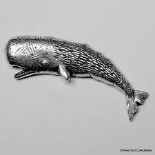 Blue whale pewter Brooch British Hand Hand-marine fish Humpback jonah