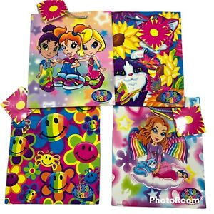 Vintage Lisa Frank Gift Bags With Handles and Tags Lot of 4 Different Prints
