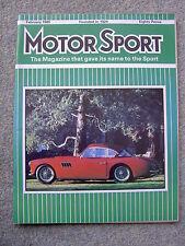 Motor Sport (Feb 1985) Astra GTE,Cavalier SRi, Mercedes 190E,Opel Manta, Peugeot