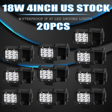 20x 4inch 18W LED LIGHT BAR WORK SPOT BEAM OFFROAD BOAT UTE CAR TRUCK 4WD LAMP