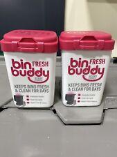Bin Buddy Fresh Powder Freshener Berry Citronella 2 X 450g Eliminates Odours