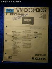 Sony Service Manual World Cup EX550/EX552 Cassette Player (#6474)
