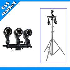 three swivel lamp bulb holder E27 socket for photographic studio