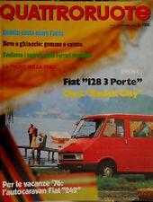 Quattroruote 239 1975 Segreti della Ferrari mondiale. Fiat 128 3 porte [Q.32]