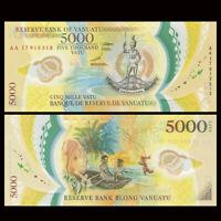 Vanuatu 5000 Vatu, 2017, P-19, Polymer, Banknote, UNC