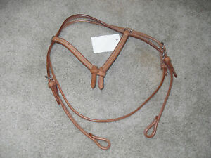 NEW LT OIL FULL SIZE SOFT LEATHER WESTERN FUTURITY KNOT HEADSTALL / BRIDLE