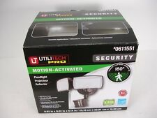 NEW UTILITECH PRO 0611551 MOTION ACTIVATED 180 DEGREE SECURITY LED FLOODLIGHT