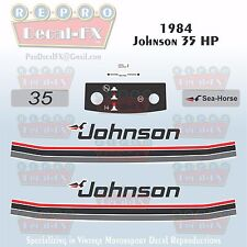 1984 Johnson 35 HP Sea-Horse Outboard Reproduction 11 Piece Marine Vinyl Decals