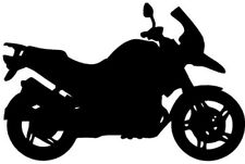 "BMW R1200 GS MOTORCYCLE Vinyl Decal Sticker-6"" Wide White Color"