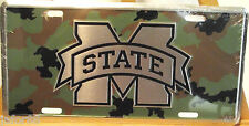 """MISSISSIPPI STATE, """"CAMO""""  METAL CAR TAG"""