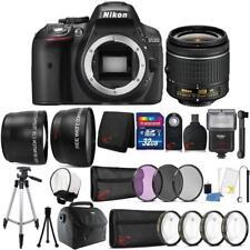 Nikon D5300 24.2MP DSLR Camera 18-55mm Lens + Zoom Flash + Full Accessory Kit