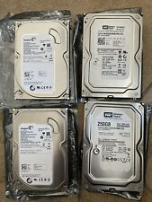 "Lot of 4- Various Desktop Hard Drive HDD 3.5"" SATA 2x250gb and 2x160gb"