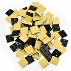 """100 Adhesive Cable Tie Wire Zip Clamp Mount Clip Holder Base 3/4"""" 20mm Black"""