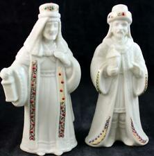 Lenox China Jewels Nativity 2 Figurines Kings Gaspar & Melchior Great Condition