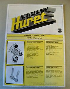 Huret Rival Cycling 12 Speed Derailleur Catalogue / Brochure 1980s